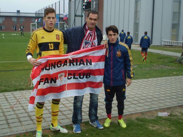 Álex Remiro y Unai López | Foto: @AthleticHungary