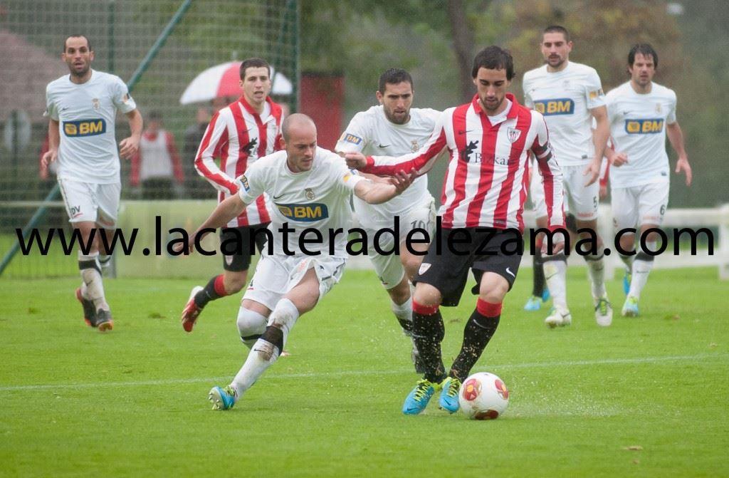 Eguaras durante el partido | Foto: Unai Zabaleta