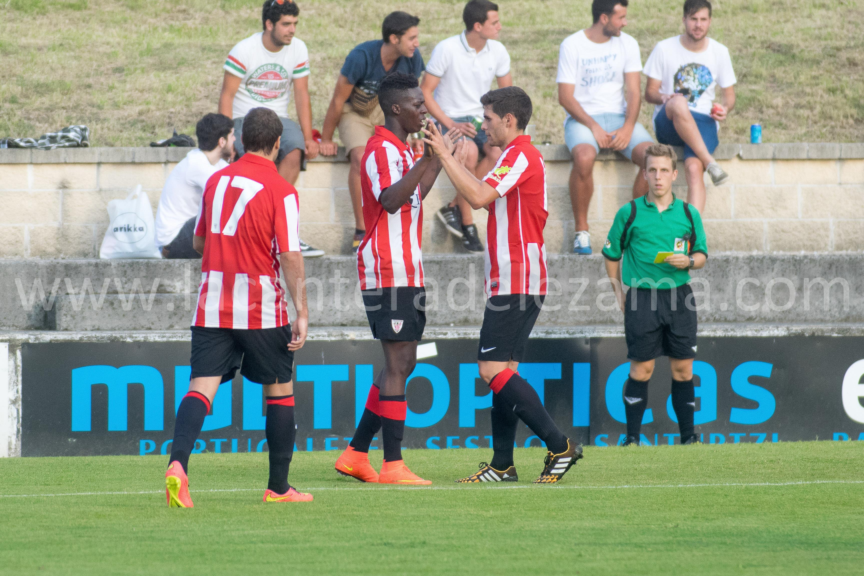 Celebración del segundo gol | Foto: Unai Zabaleta