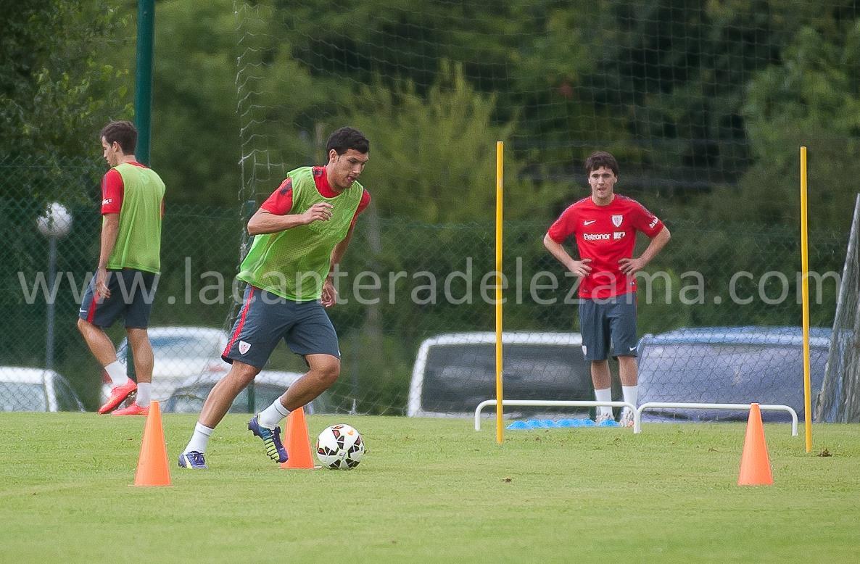 Unai Albizua en un entrenamiento de esta temporada | Foto: Unai Zabaleta