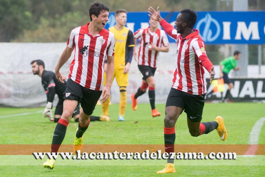 Vesga celebra su gol junto a Williams | Foto: Unai Zabaleta