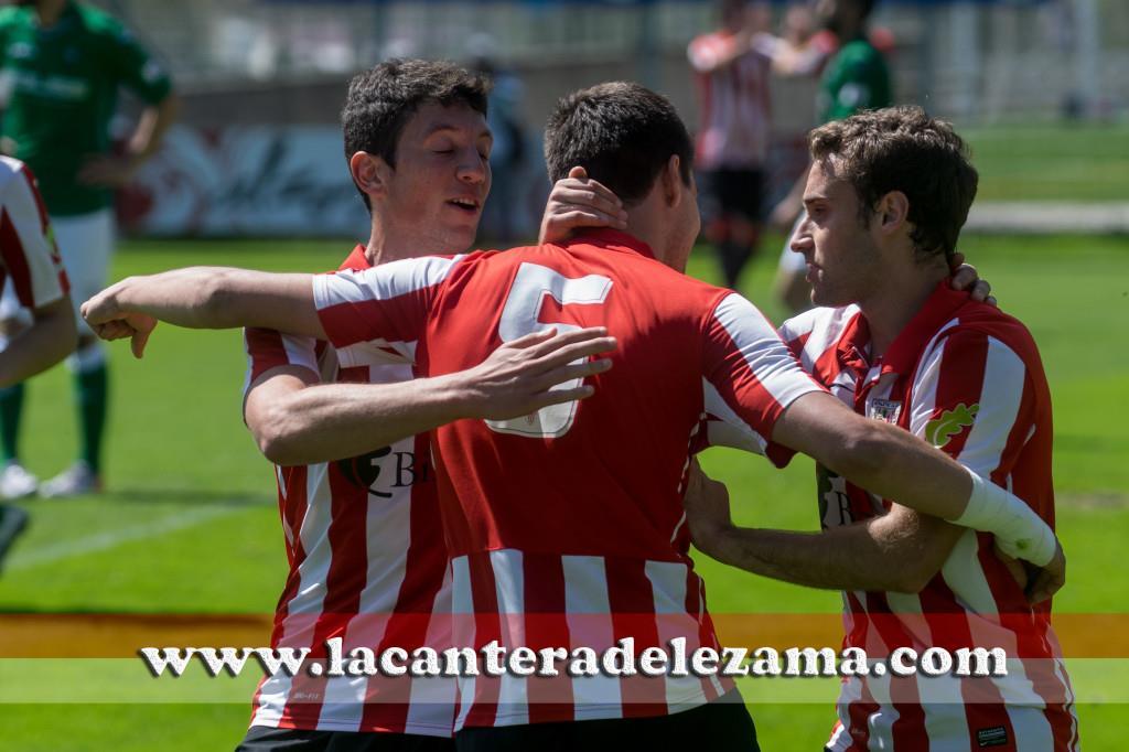 Celebración del gol de Unai Bilbao | Foto: Unai Zabaleta