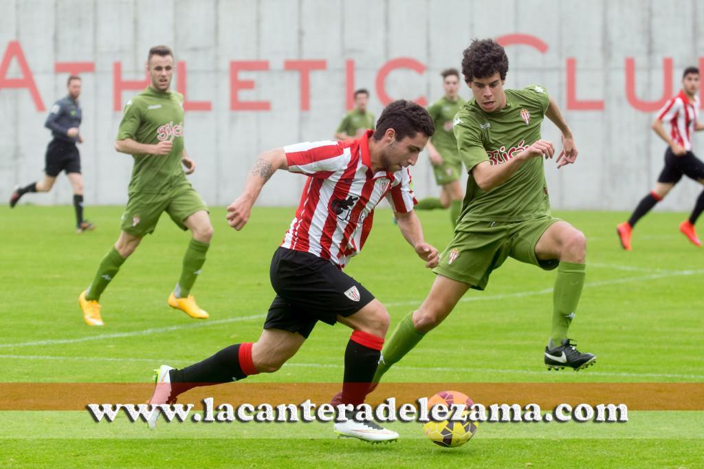 Izaro Abella ante el Sporting | Foto: Unai Zabaleta