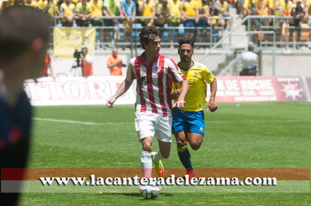 Lekue en el play-off de ascenso ante el Cádiz | Foto: Unai Zabaleta