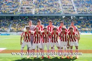 Once titular ante el Cádiz play-off 2014/15 | Foto: Unai Zabaleta
